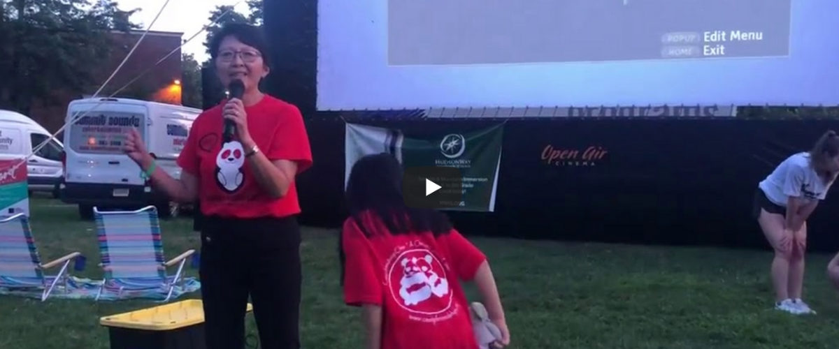 HudsonWay Immersion School sponsors Summit Screen on the Green   July 2019