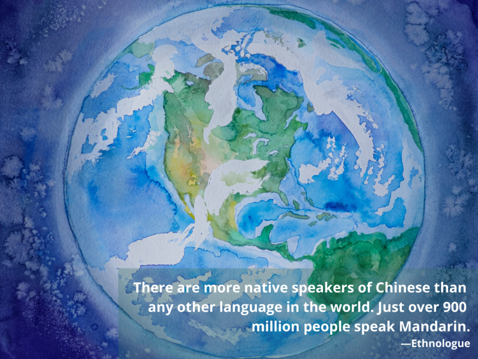 Chinese has the most native speakers of any language in the world