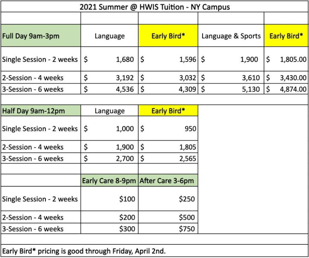 NY Summer Camp Costs