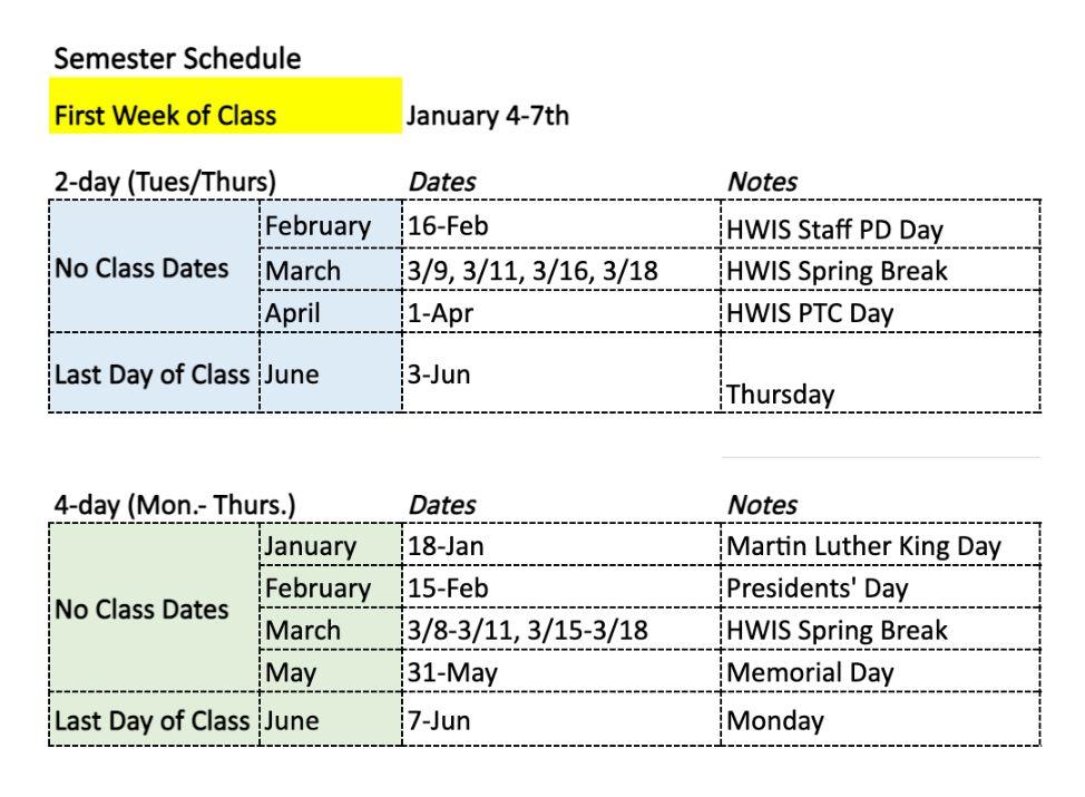 After School Schedule
